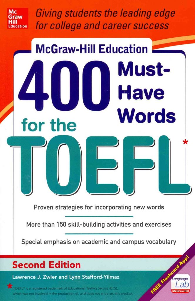 must have words for toefl Must-have words is also highly effective in the toefl-prep classroom each chapter begins with a list of 10 target words these words are defined and used in sample sentences usage tips are given for many words, as are any commonly used parts of speech related to the target word following these definitions, the words are practiced in three exercises.